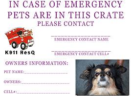 K911 ResQ Emergency Card